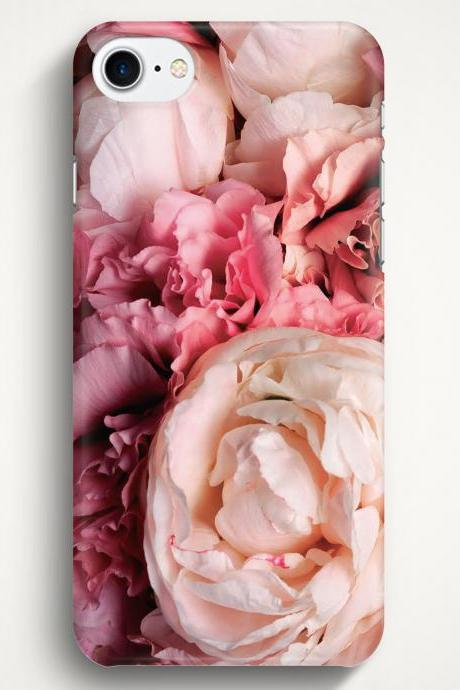 Pink Peonies Case For iPhone 7 iPhone 7 Plus Samsung Galaxy S8 Galaxy S7 Galaxy A3 Galaxy A5 Galaxy A7 LG G6 LG G5 HTC 10