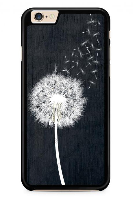Dandelion on Black Wood Design Case for iPhone 4 4s 5 5s 5c 6 6 Plus 6s 6s Plus, Samsung Galaxy S3 S4 S5 S6 S6 Edge S7 S7 Edge LG G3, LG G4, HTC One M8, HTC One M9, Sony Xperia Z3