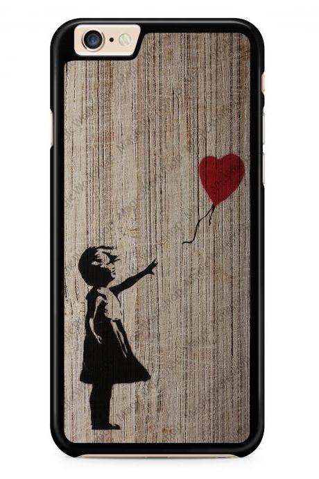 Girl with balloon on wood texture, Banksy Case for iPhone 4 4s 5 5s 5c 6 6 Plus 6s 6s Plus, Samsung Galaxy S3 S4 S5 S6 S6 Edge S7 S7 Edge LG G3, LG G4, HTC One M8, HTC One M9, Sony Xperia Z3