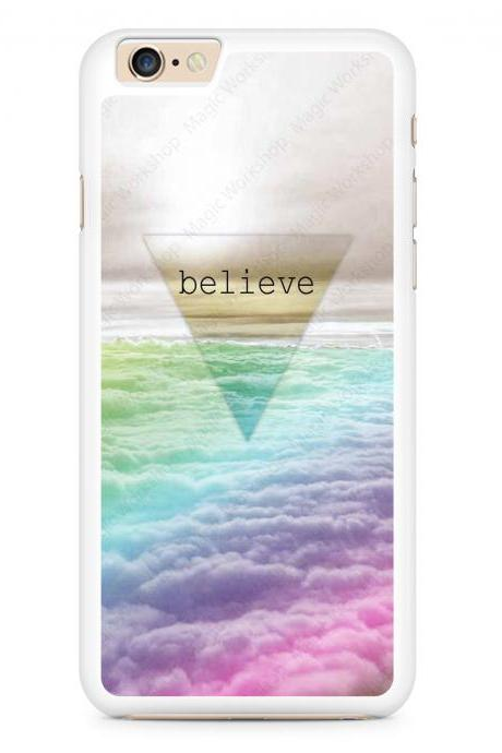 Believe, Triangle, Clouds Case for iPhone 4 4s 5 5s 5c 6 6 Plus 6s 6s Plus, Samsung Galaxy S3 S4 S5 S6 S6 Edge S7 S7 Edge LG G3, LG G4, HTC One M8, HTC One M9, Sony Xperia Z3