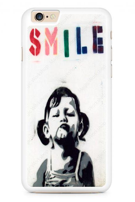 Smile, Graffiti, Stencil, Banksy Case for iPhone 4 4s 5 5s 5c 6 6 Plus 6s 6s Plus, Samsung Galaxy S3 S4 S5 S6 S6 Edge S7 S7 Edge LG G3, LG G4, HTC One M8, HTC One M9, Sony Xperia Z3
