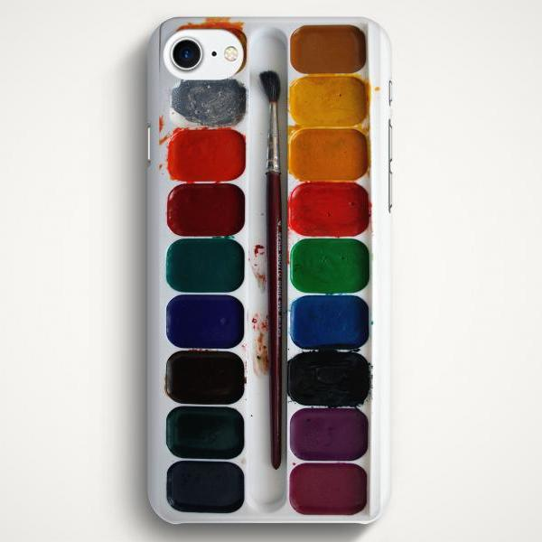 Watercolor Palette Case For iPhone 7 iPhone 7 Plus Samsung Galaxy S8 Galaxy S7 Galaxy A3 Galaxy A5 Galaxy A7 LG G6 LG G5 HTC 10