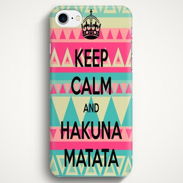 Keep Calm and Hakuna Matata Case For iPhone 7 iPhone 7 Plus Samsung Galaxy S8 Galaxy S7 Galaxy A3 Galaxy A5 Galaxy A7 LG G6 LG G5 HTC 10