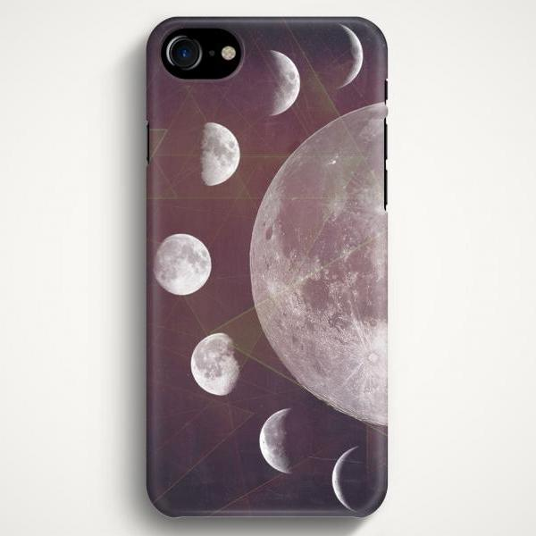 Moon Phases Geometric Case For iPhone 7 iPhone 7 Plus Samsung Galaxy S8 Galaxy S7 Galaxy A3 Galaxy A5 Galaxy A7 LG G6 LG G5 HTC 10